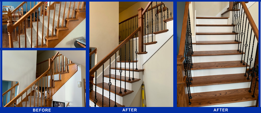 Haislar Construction residential stairs before after