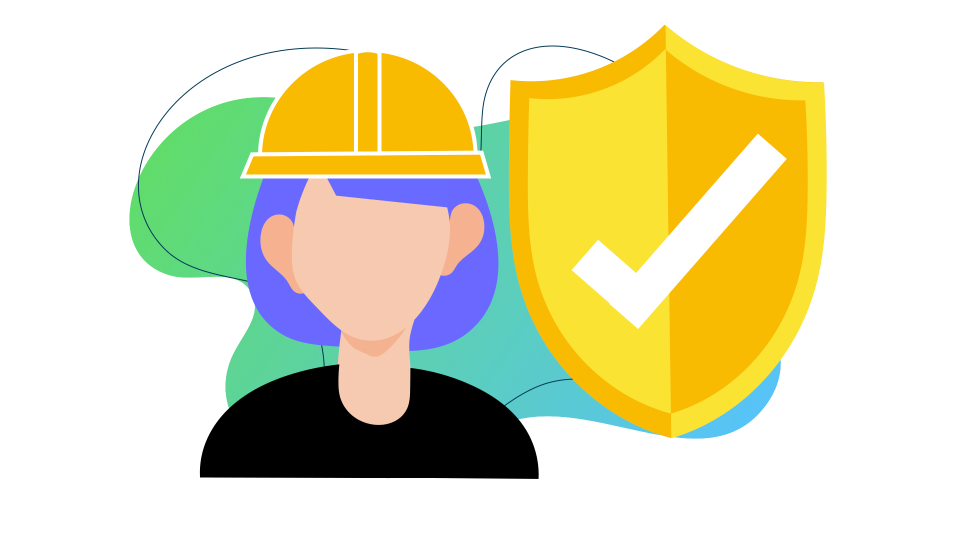 Lone Worker Safety Female Graphic Laipac