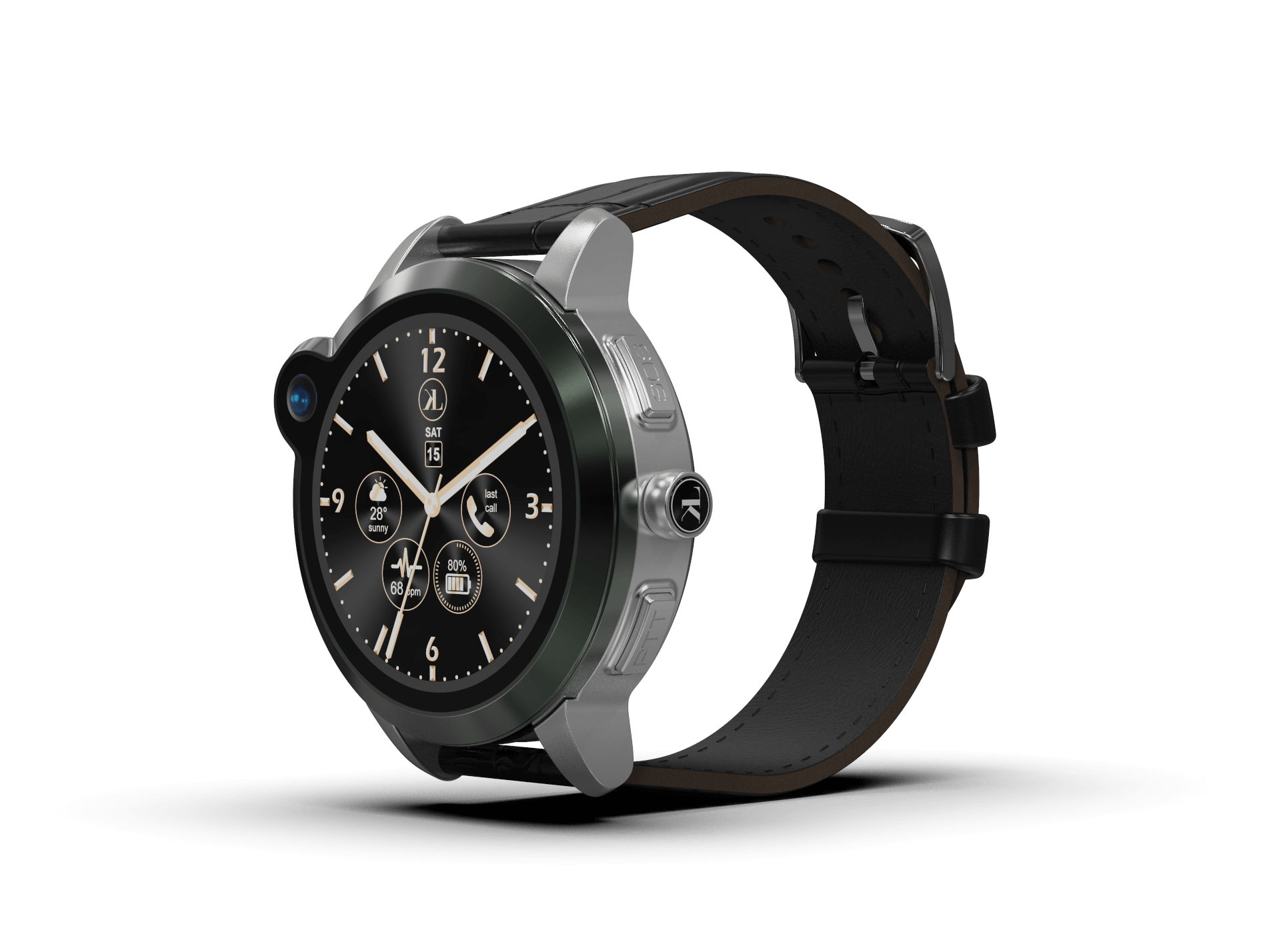 LooK Watch II Black mPERS Smartwatch Laipac