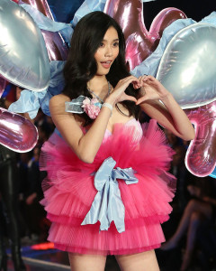NEW YORK, NY - NOVEMBER 10: Model Ming Xi walks the runway during the 2015 Victoria's Secret Fashion Show at Lexington Avenue Armory on November 10, 2015 in New York City. (Photo by Taylor Hill/Getty Images)