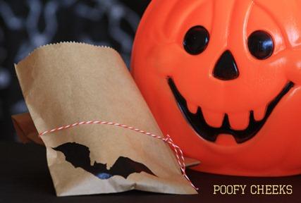 Bat Halloween Treat Bags