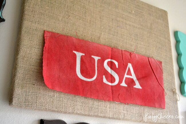 USA Burlap Canvas Art – Silhouette Project