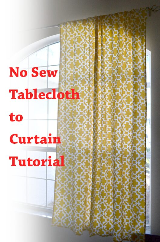 No Sew Curtains from a Tablecloth