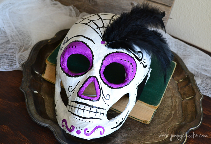 Painted Skeleton Skull Mask Tutorial