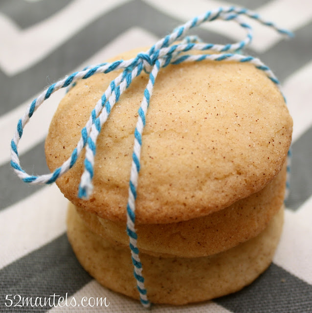 Snickerdoodle Cookie Recipe by 52 Mantels
