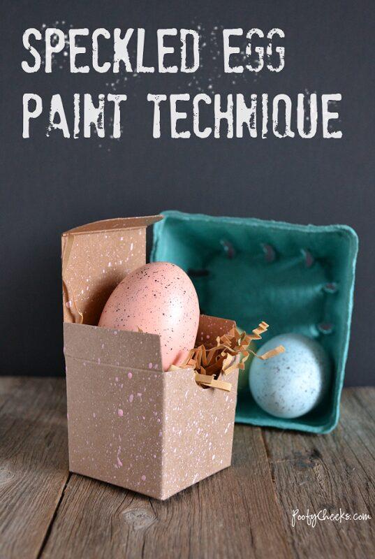 Speckled Egg Paint Technique