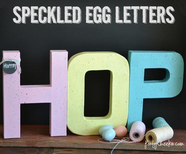 Speckled Easter Egg Letters–Hippity Hop