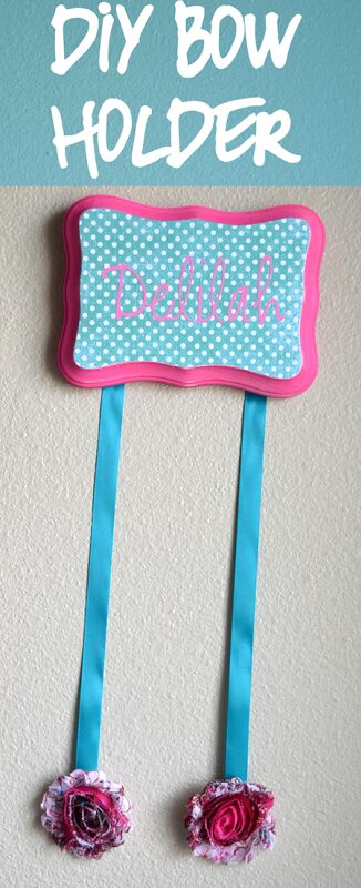Personalized DIY Bow Holder