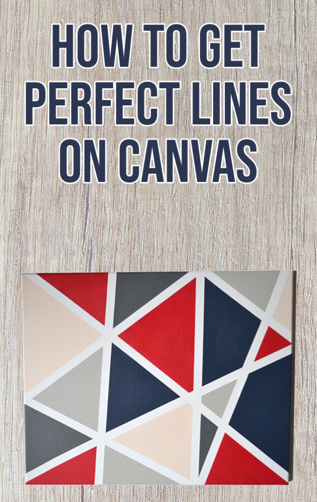 How to Paint Perfect Lines on Canvas