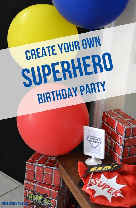 Create Your Own Superhero Birthday Party