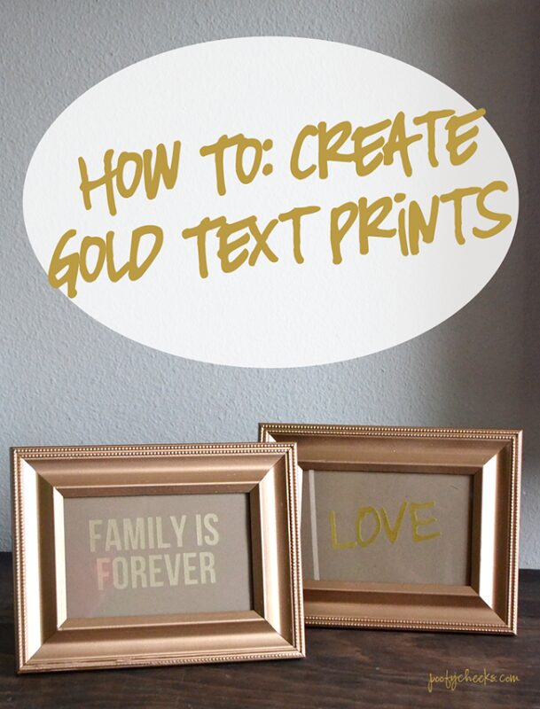 How To Make Gold Text Prints