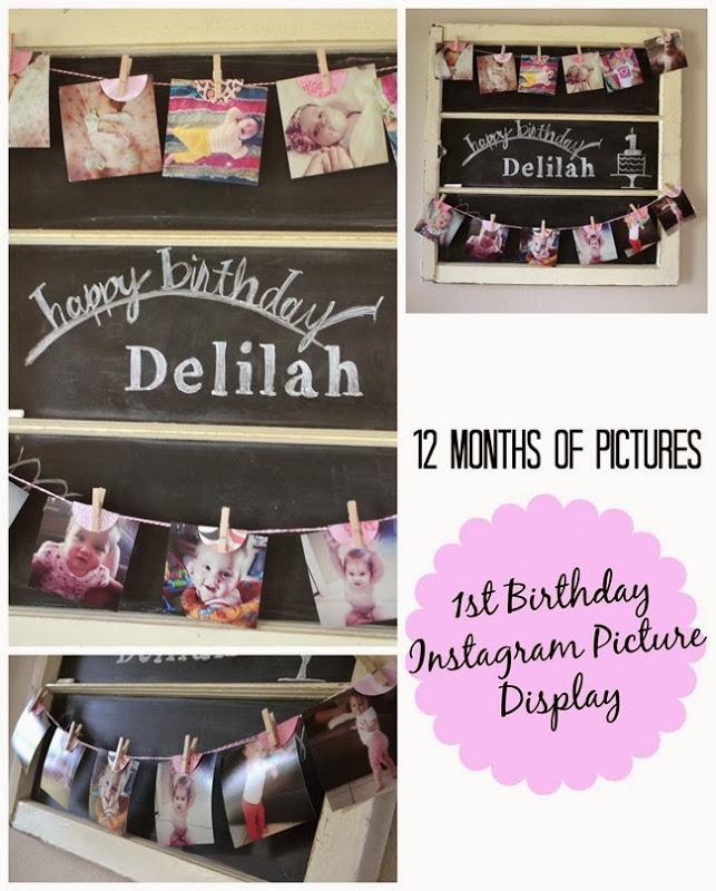 Instagram First Birthday Banner