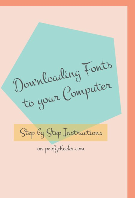 Downloading Fonts from the Internet to your Computer