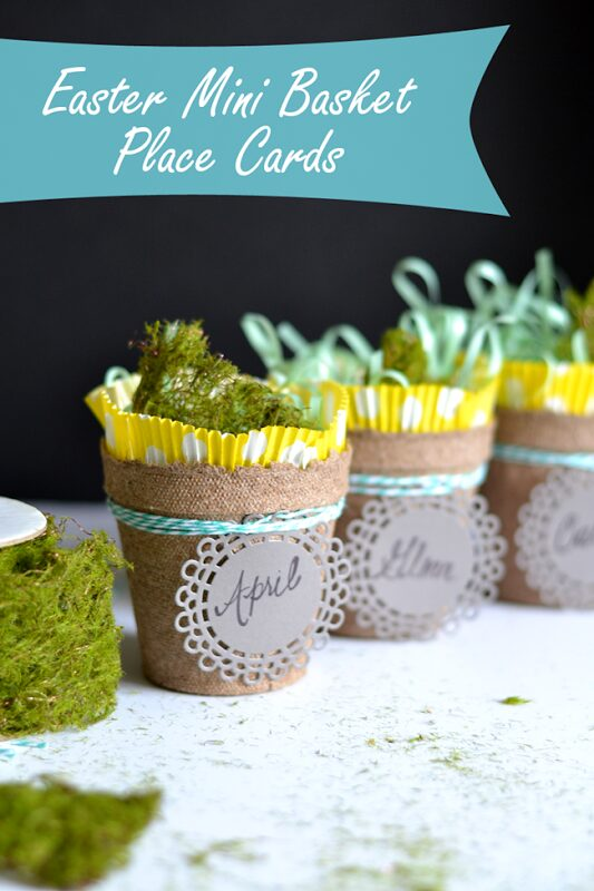 Easter Seed Starter Cup Place Cards