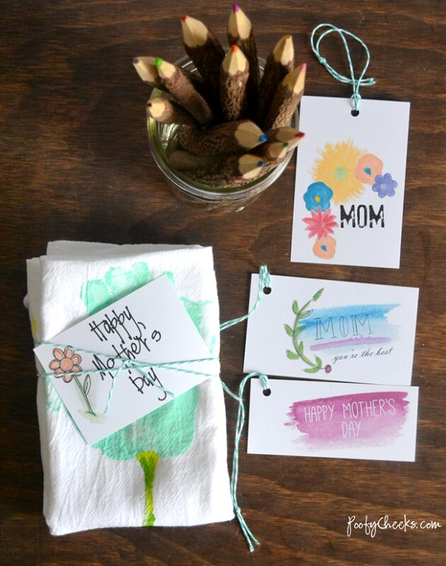 Mother's Day Printable Watercolor Tags