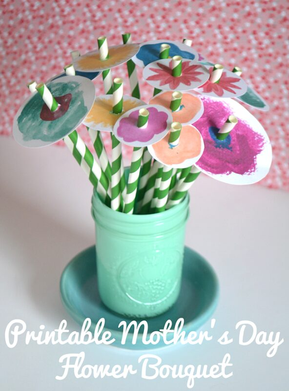 Mother's Day Printable Flower Bouquet