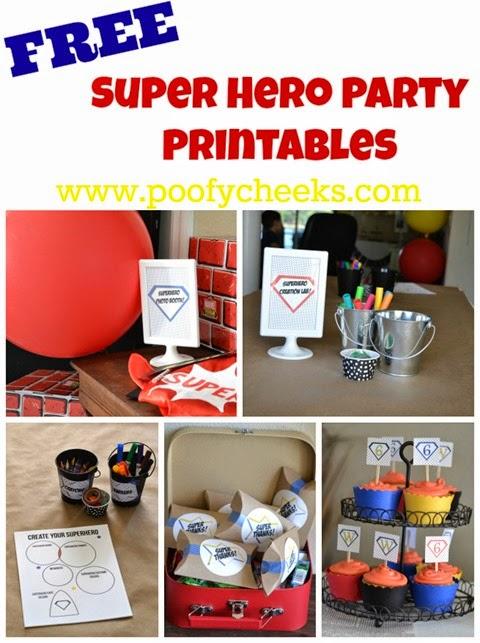 Superhero Party Printables