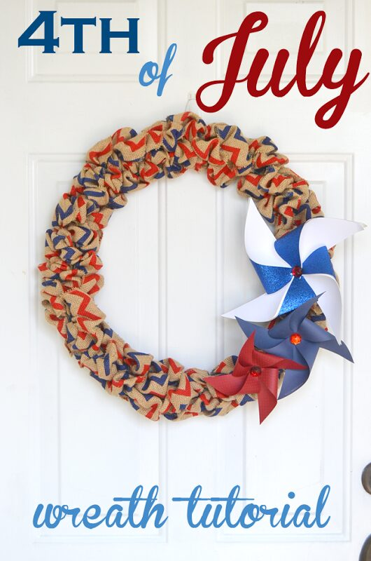 Fourth of July Burlap Wreath Tutorial