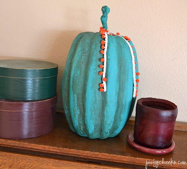 Chalk Paint Pumpkin–Fall Craft