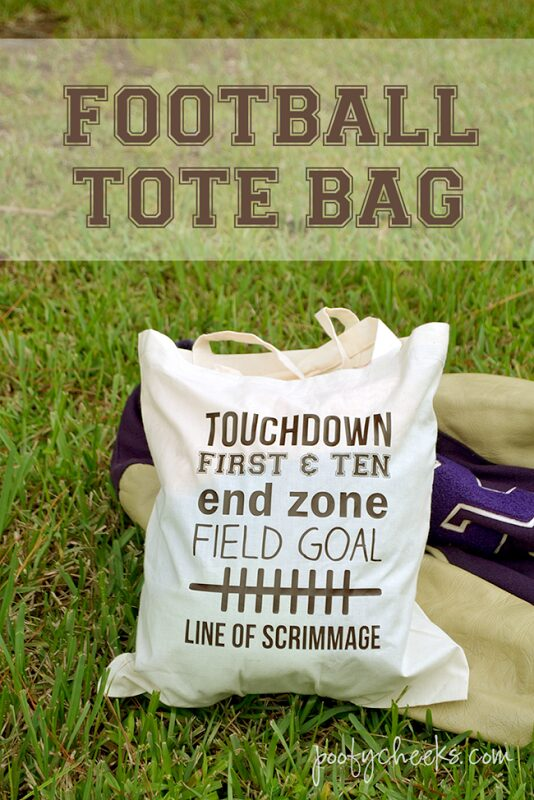 Football Words Tote Bag {Football Game Day Ideas}