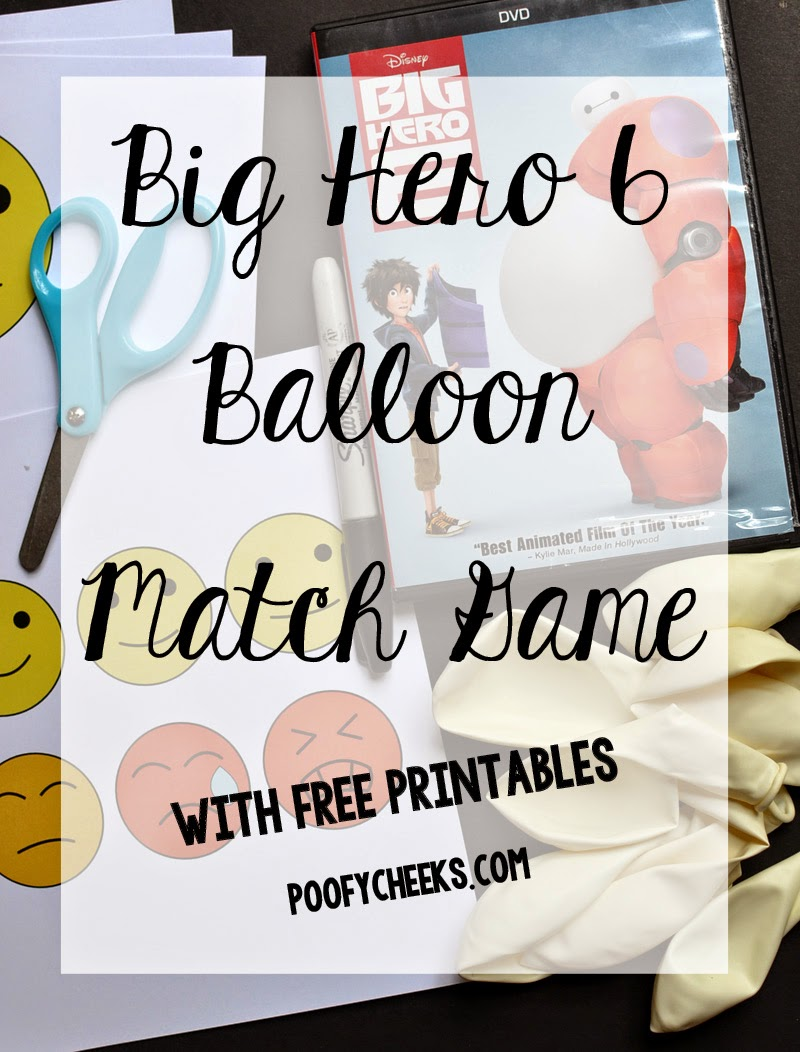Big Hero 6 Balloon Match Game and Printables