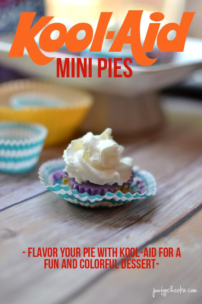 No Bake Kool-Aid Mini Pies Recipe - #PourMoreFun www.poofycheeks.com