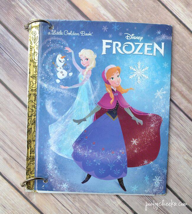 Frozen DIY Disney Autograph Book #DisneySide www.poofycheeks.com