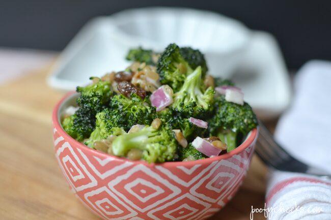 Broccoli Salad Recipe - Bacon bits and mayonnaise dressing make it so delicious.