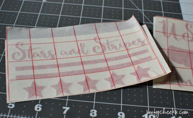 DIY Patriotic Dollar Store Candles + Free Silhouette Cut File