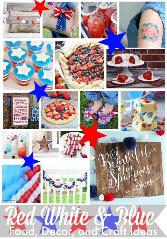 Red White and Blue Patriotic Crafts and Recipes