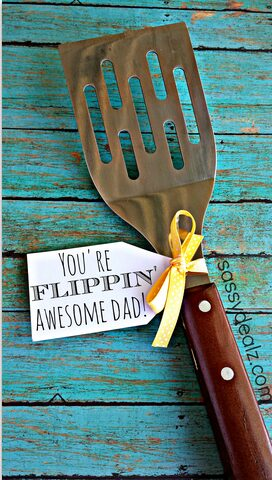 http://www.craftymorning.com/funny-spatula-fathers-day-gift-idea/