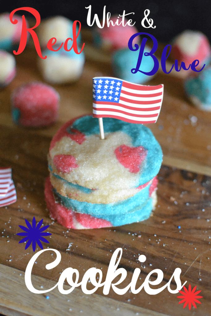 Red White and Blue Sugar Cookies + lots of other Red White and Blue crafts and Recipes