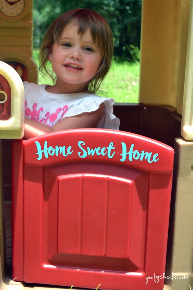 Vinyl Home Sweet Home Personalized Plastic Playhouse