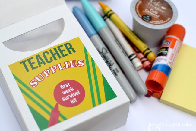 Printable Back to School Teacher Supply Label