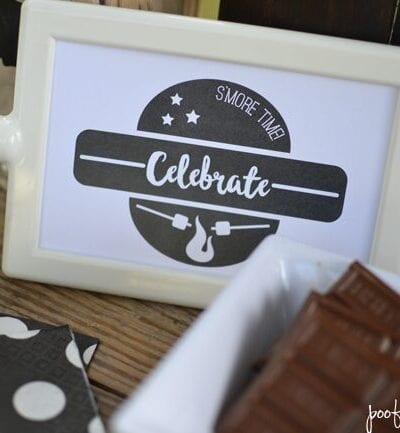 Birthday S'mores Bar – Summer Birthday Celebration