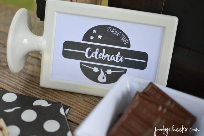 Birthday S'Mores Bar - #LetsMakeSmores