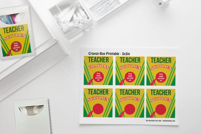 Printable Back to School Teacher Supplies