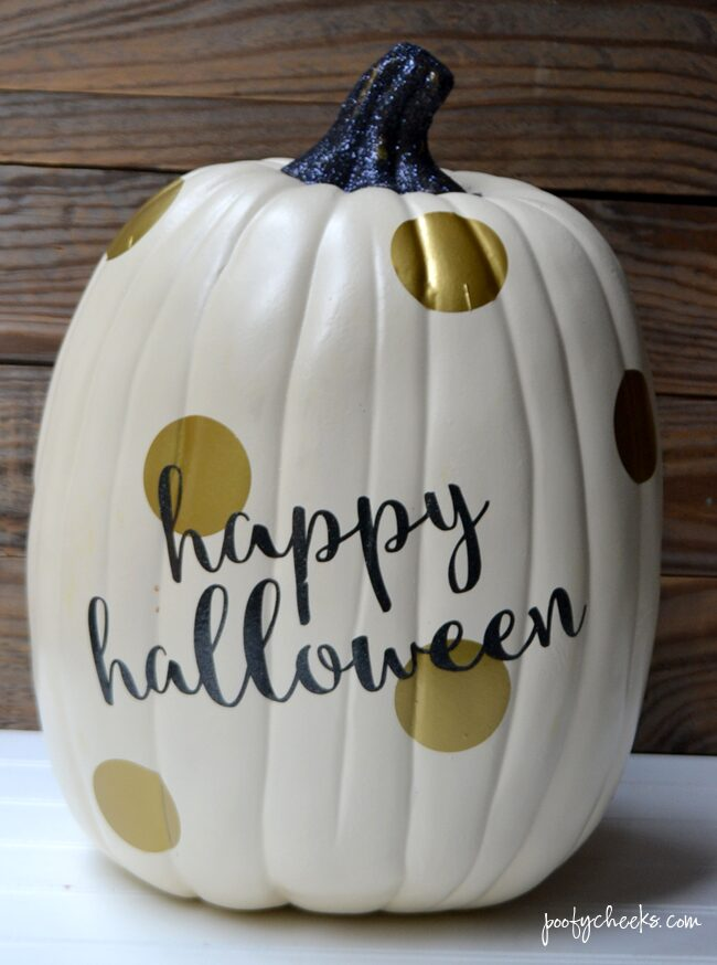 Gold Glam Pumpking Craft - Fake Pumpkin