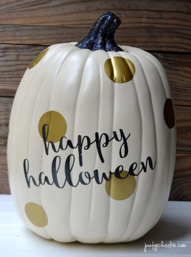 Gold Glam Halloween Pumpkin