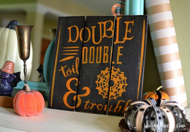 Toil & Trouble Mini Pallet Halloween Sign – FREE DXF Cut File
