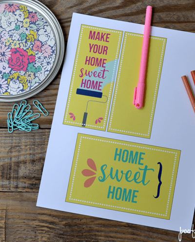 Housewarming Gift Paint Bucket and Printable Gift Tag