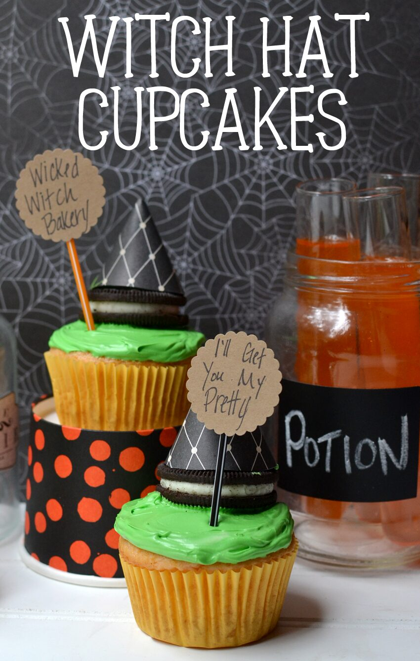 Easy Witch Hat Cupcakes