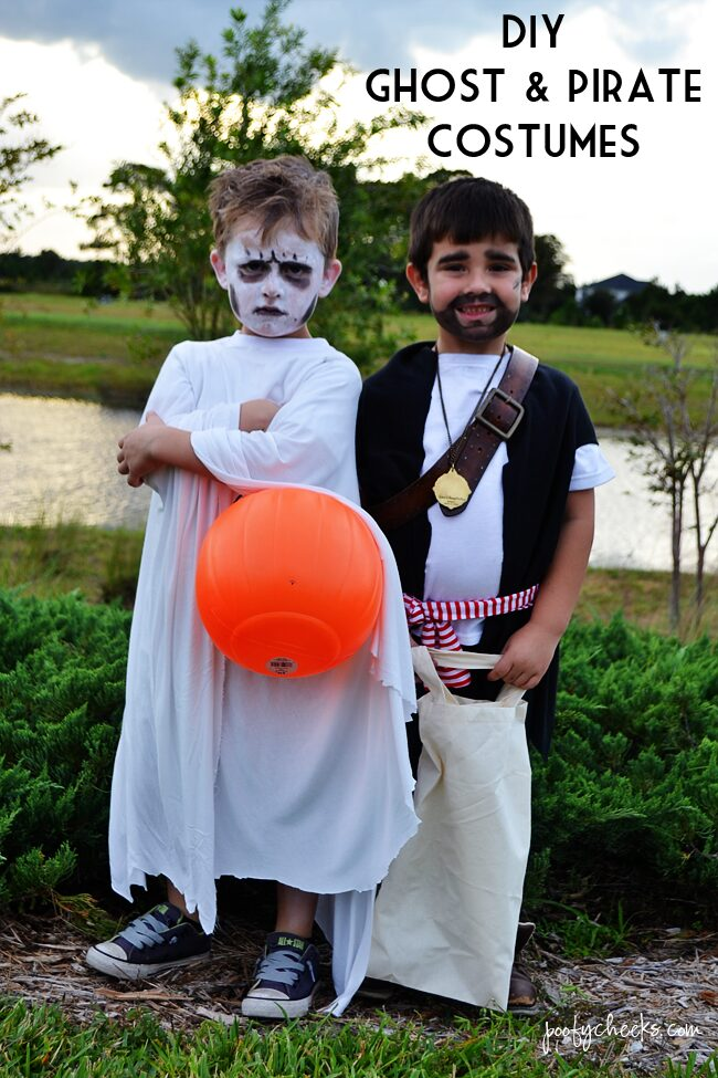 DIY Halloween Costumes for Boys - Ghost and Pirate