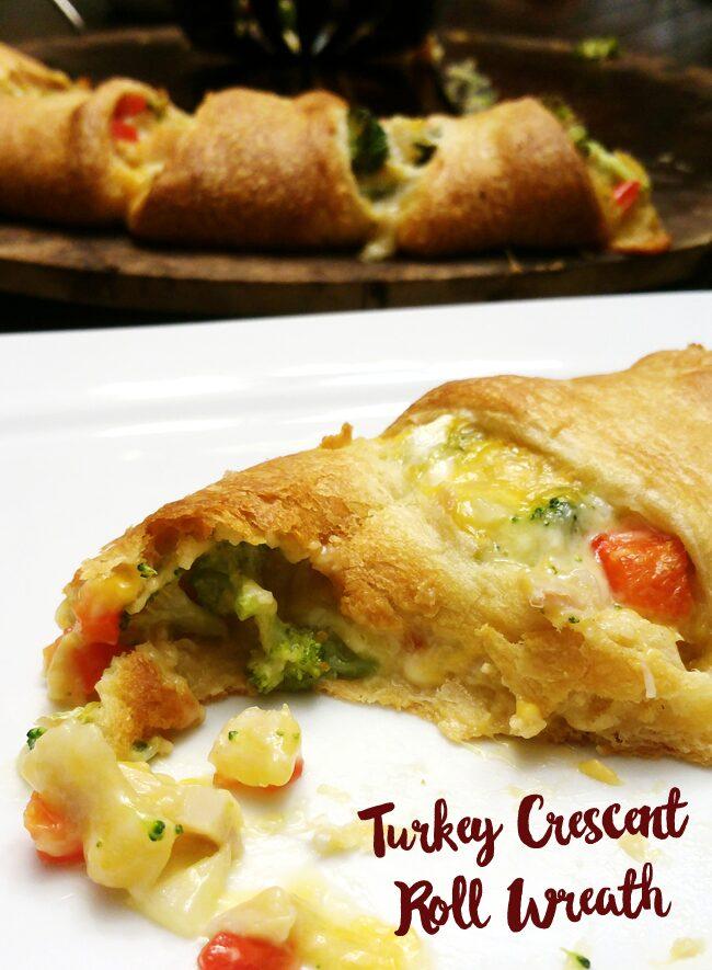 Turkey Crescent Roll Wreath Recipe - Use leftover turkey to make dinner.