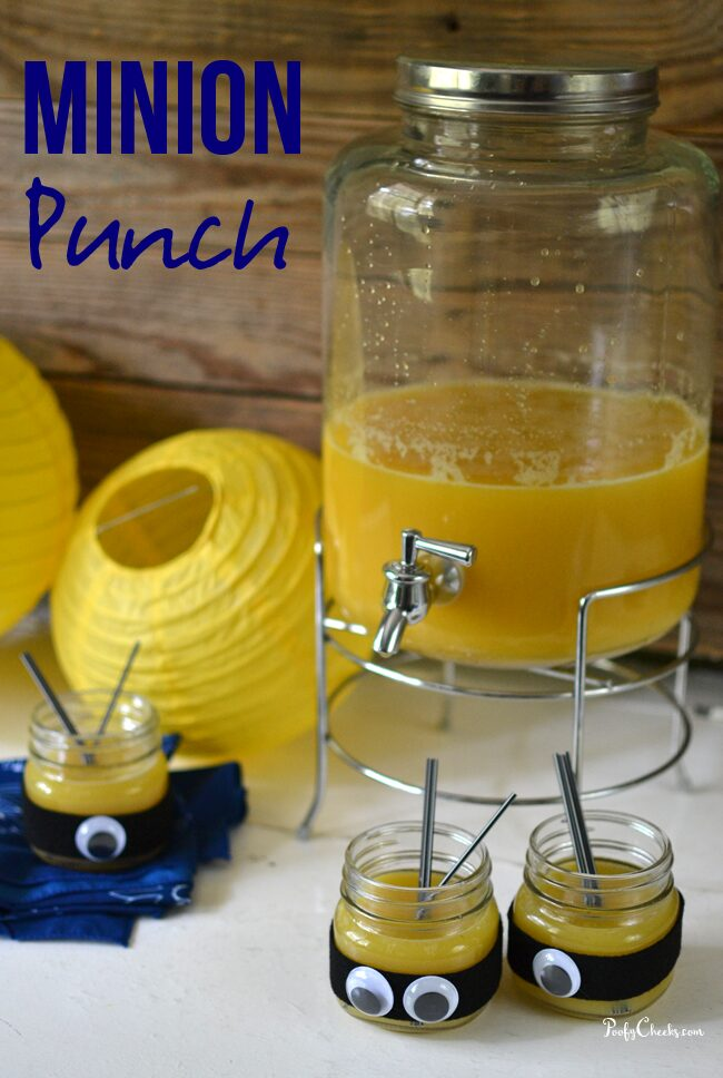 Minions Movie Punch - Yellow punch perfect for a Minions party