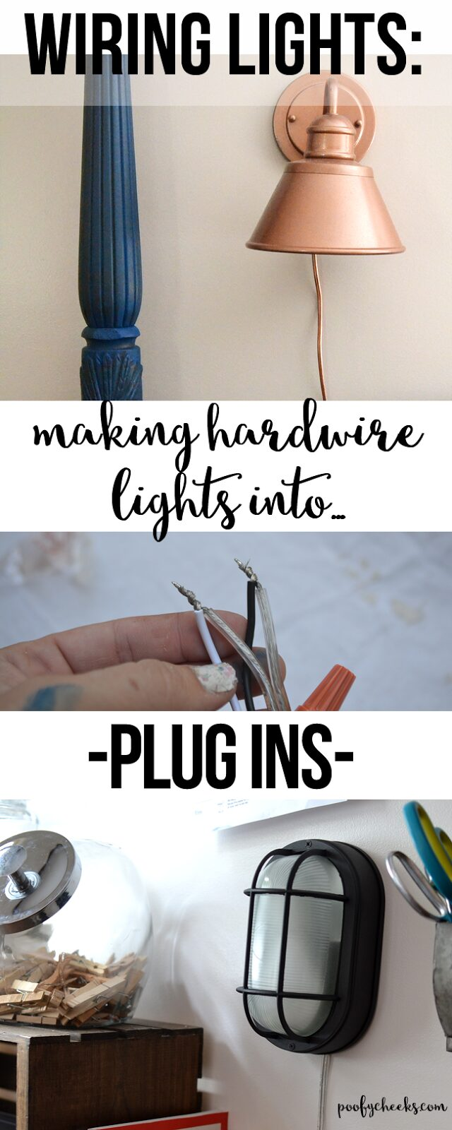 Turn Hardwired Lights into Plug In Lights