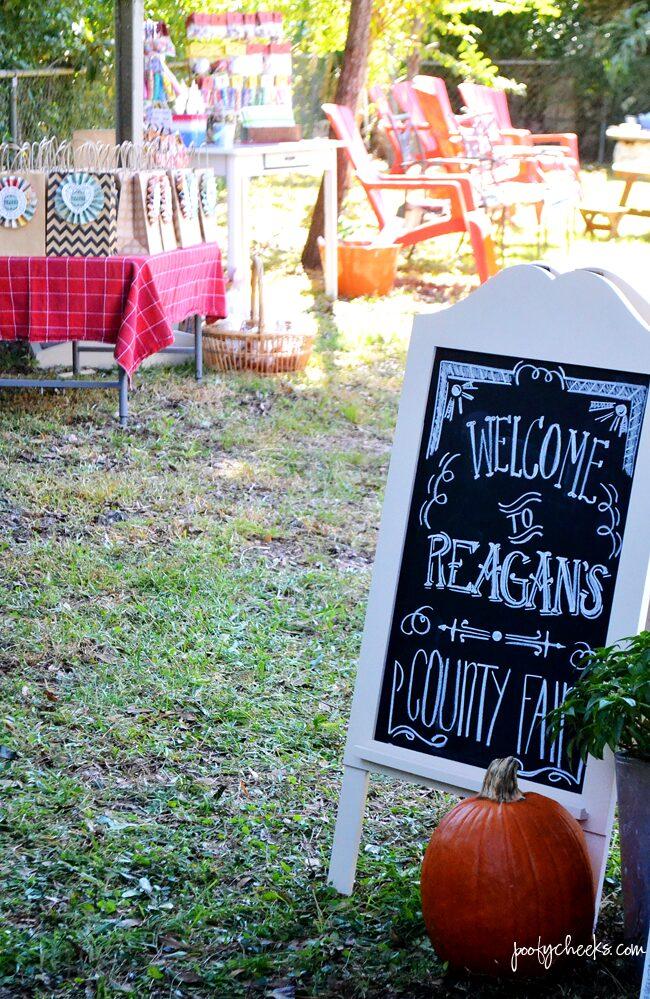 Backyard County Fair Birthday Party
