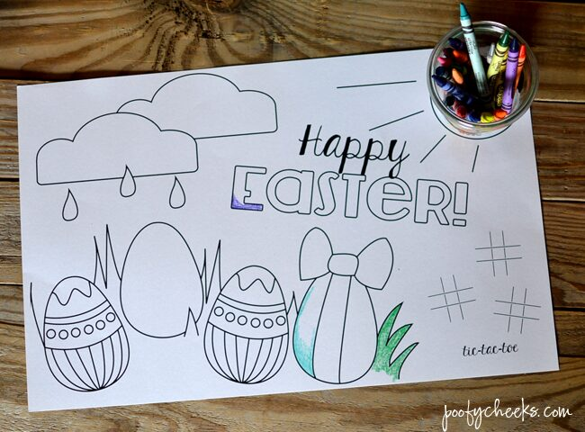 Happy Easter Coloring Page Printable