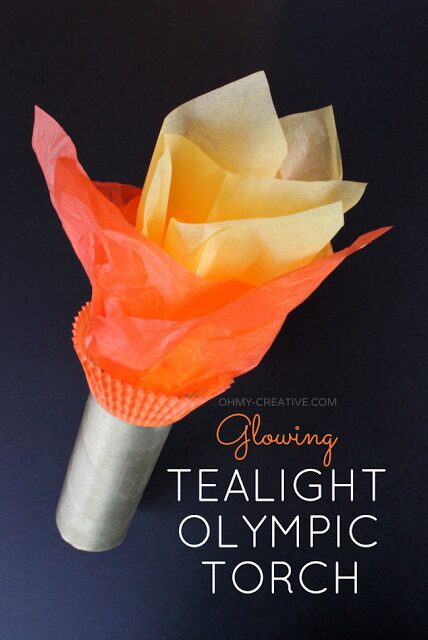 http://www.ohmy-creative.com/kids-crafts/glowing-tea-light-olympic-torch/