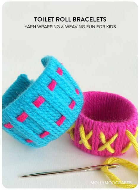 http://mollymoocrafts.com/toilet-roll-crafts-bracelets/